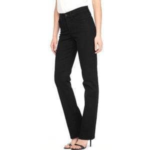 NYDJ black STRAIGHT leg Jeans size 16 Lift & Tuck